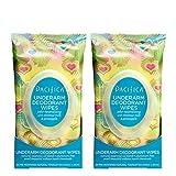 Pacifica Beauty Underarm Deodorant Wipes, Coconut