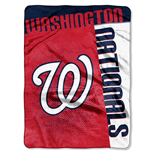 Officially Licensed MLB Washington Nationals Strike Raschel Throw Blanket, 60