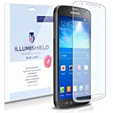 Samsung Galaxy S4 Active Screen Protector (I9295)[2-Pack], iLLumiShield - (HD) Blue Light UV Filter / Premium Clear Film / Anti-Fingerprint / Anti-Bubble Shield