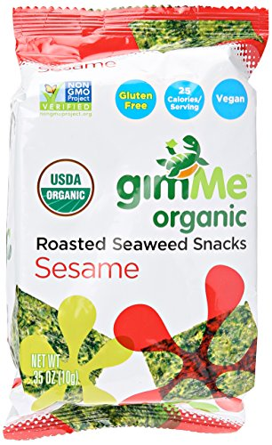 Gimme Seaweed Snacks Roasted Sesame Organic, 0.35 oz by gimMe