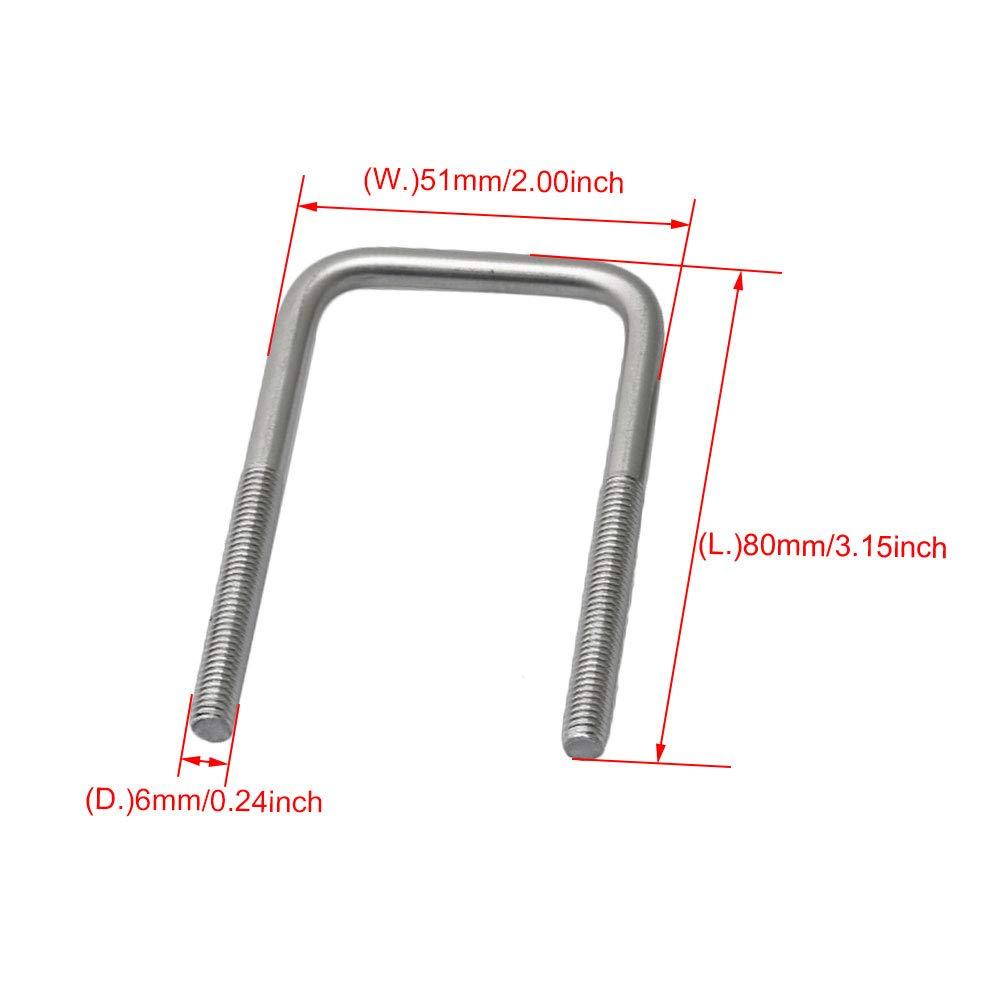 M7190402099 Yibuy 304 Support carr/é en acier inoxydable pour /écrous et /écrous