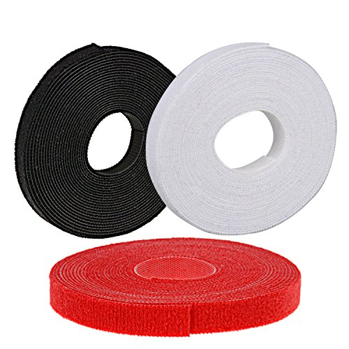 Oldhill Fastening Tapes Hook and Loop Reusable Straps Wires Cords Cable Ties - 1/2