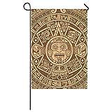 Cheap Garden Flag,Aztec Mayan Calendar Weatherproof 100% Polyester House Flag 28″ x 40″(One Side)