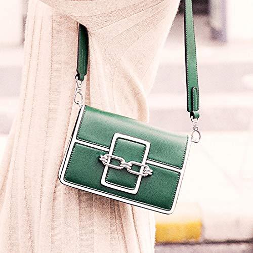 Bandoulière Green Sac Rétro Sangles Green Large À Bag Messenger Ovesuxle Boucle Magnétique color Simple Carré Womens D'épaule Pu xavq7nBp