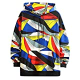 Uqiangy Mens Stylish Fashion Printed Casual Loose Hoodies Pullover Sweatshirt Autumn Coat(Multicolor,XXXL)