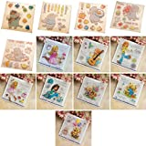 Tcplyn Premium Cake Bear Clear Silicone Stickers