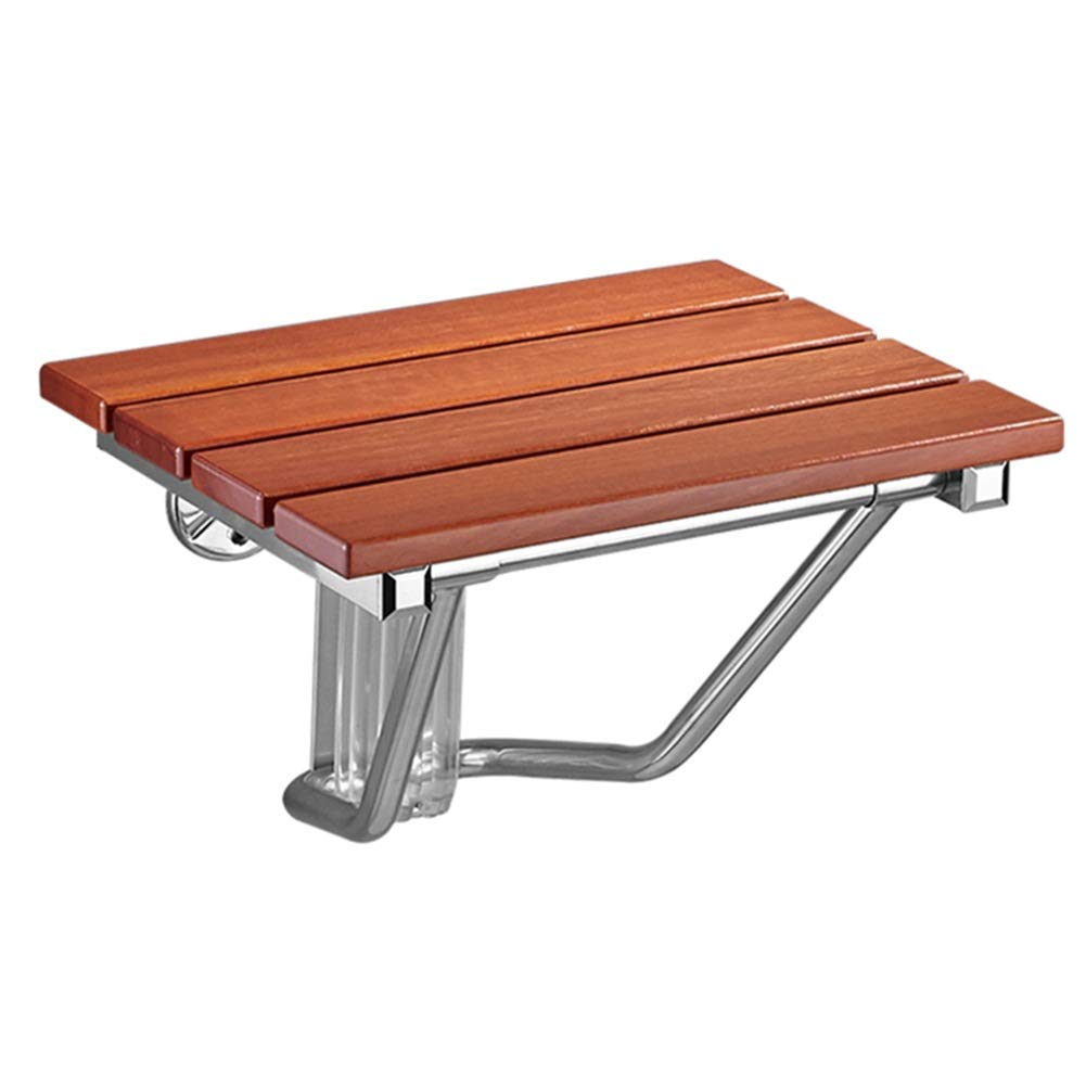 KKCF バスルームシャワースツール厚いシートプレート防水耐摩耗性折りたたみ式強化ベース無垢材, 2スタイル (サイズ さいず : B) B  B014F5RF2Q