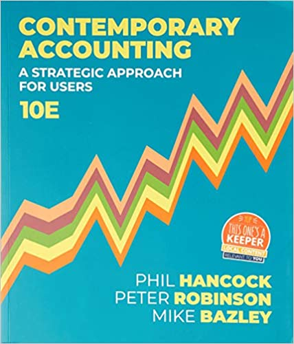 Contemporary Accounting, 10th Edition - Original PDF