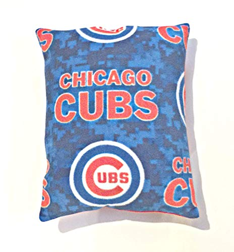 (Stuffed Chicago Cubs theme Travel Size Pillow/Baseball Team Pillow/Gifts for Him/Gifts for Her)