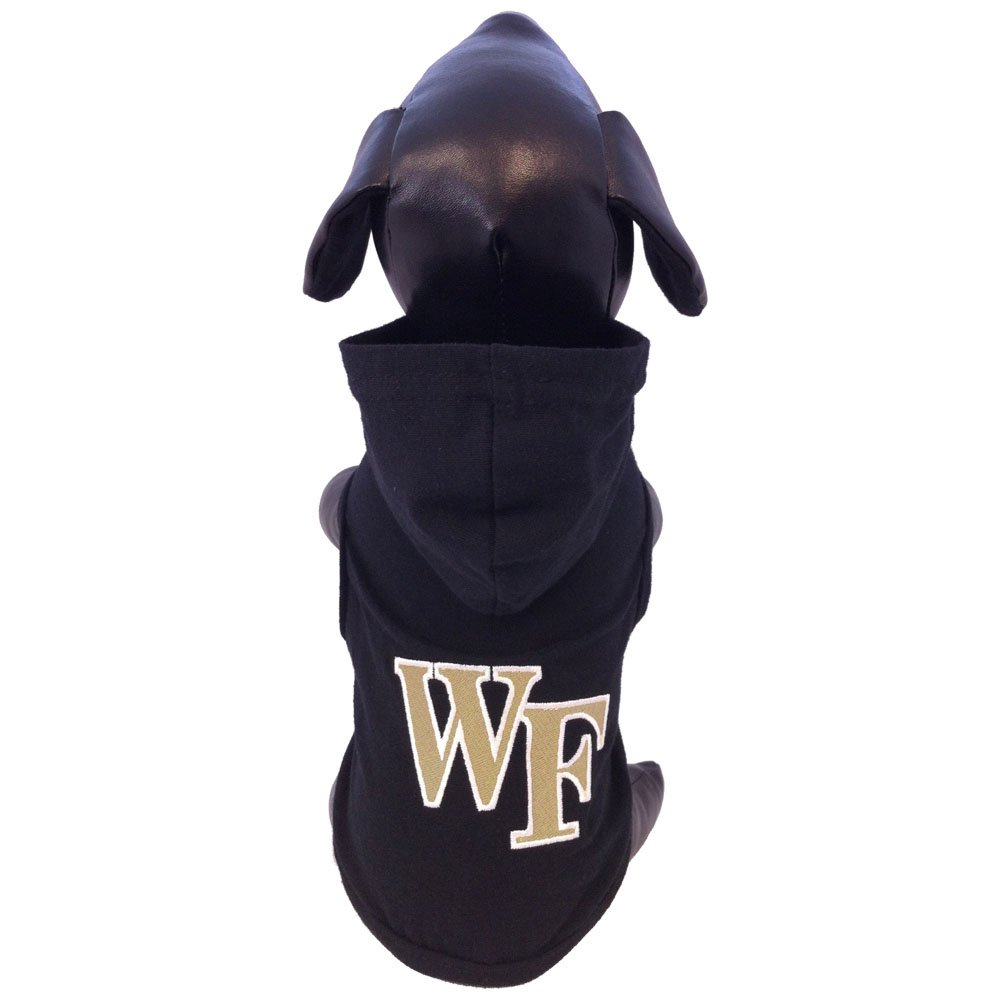 All Star Dogs NCAA Wake Forest Demon Deacons Cotton Lycra Hooded Dog Shirt, Small