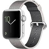 Apple Watch Series 2 Smartwatch 38mm Silver Aluminum Case Pearl Woven Nylon Band (Renewed)
