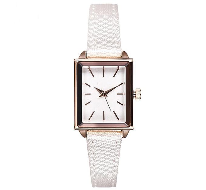 Reloj de mujer de moda Trend impermeable correa de cuero casual cuadrado reloj de cuarzo femenino