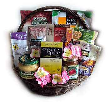 Healthy Mother's Day Gift Basket by Well Baskets: Amazon.com ...