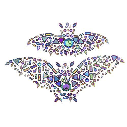 Darice Martha Stewart Crafts Gemstone Bat Sticker, 5.5