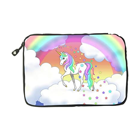 Electronic Accessories Travel Bag Horse with Rainbow USB Flash Drive Case Bag Wallet SD Memory Cards Cable Organizer
