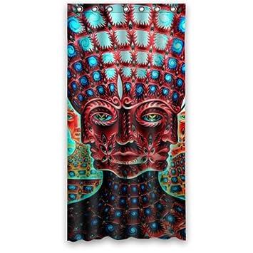 X Waterproof Bathroom Fabric Shower Curtain Abstract