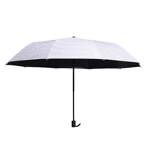 Paraguas Plegables Paraguas Sombrilla Protector Solar Protección UV Mujer Grande para Hombres Creativo Paraguas Plegable Doble