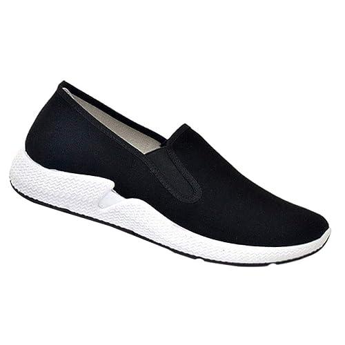 Gtagain Lona Paño Zapatos Hombre - Zapatillas Suave Cómodo Transpirable Lienzo Informal Flexible Fitness Sneakers: Amazon.es: Zapatos y complementos