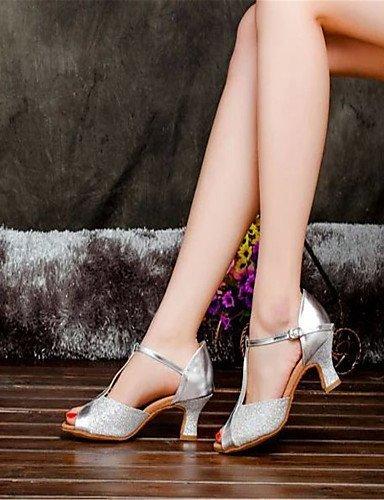 nbsp;Latin de nbsp;Cuña nbsp;– dorado nbsp;– nbsp;– nbsp;Satén nbsp;Mujer Zapatos No Dorado baile personalizable shangyi nbsp;– 5YqwvHgXx