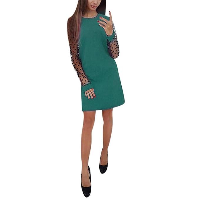 Mujer Vestido ddupnmone o coumanches larga falda recta Splicing ...