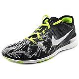 NIKE Women's Free 5.0 TR Fit 4 Print Training Shoe Black/Volt/White Size 9.5 M US