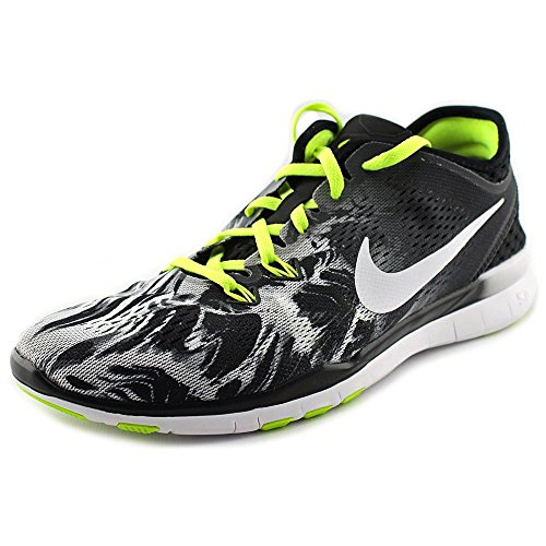 NIKE Women's Free 5.0 TR Fit 4 Print Training Shoe Black/Volt/White Size 8 M US