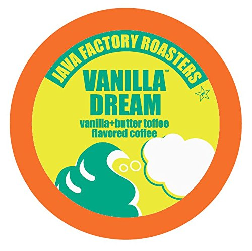 Java Factory Single Cup Coffee for Keurig K Cup Brewers, Vanilla Dream, 80 Count