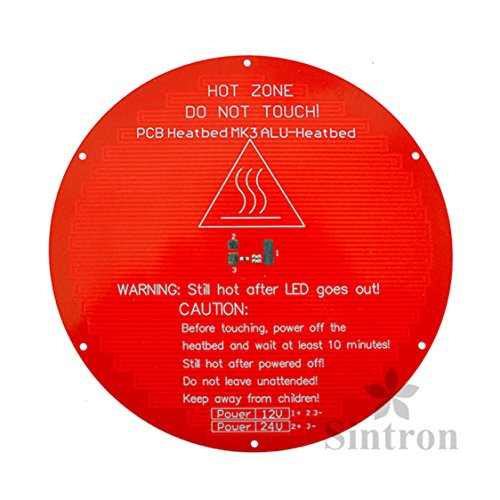 Reasonable Mk2y Round Heated Bed Pcb Delta Reprap 3d Printer Kossel Rostock 12v 220mm Dia Less Expensive 3d Printer Parts & Accessories Office Electronics