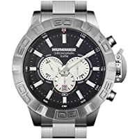 Hummer King Chronograph Watch HU2102-112M Silver Case Silver Stainless Steel Band