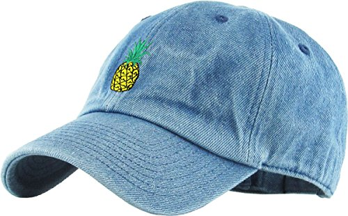 KBSV-021 MDM Pineapple Dad Hat Baseball Cap Polo Style Adjustable