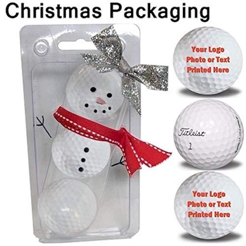 Personalized V1 Pro - Titleist 3 Ball Pack Pro V1 Custom Logo Refinished Mint Golf Balls Christmas Packaging