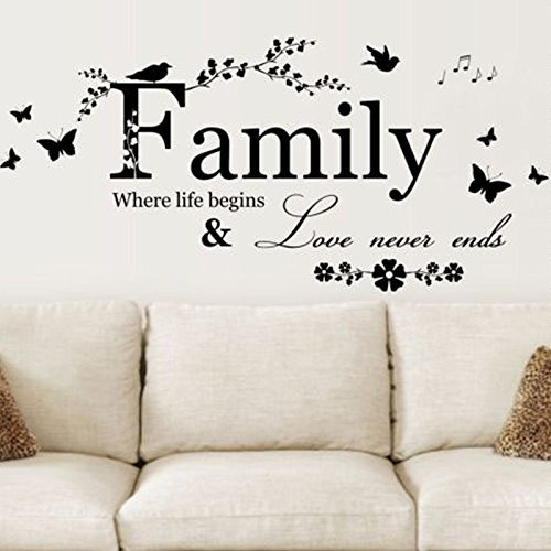 DIY HOME Family Letter Quote Removable Vinyl Decal Art Mural