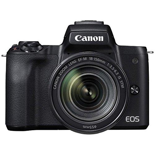 キヤノン EOS Kiss M 【EF-M18-150 IS STM レンズキット】 (ブラック/ミラーレス一眼カメラ) EOSKISSMBK18150ISSTM