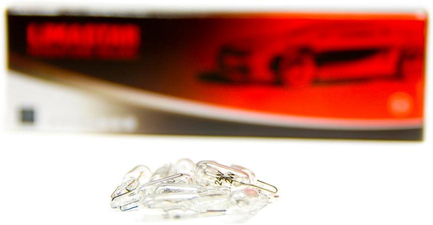 10 X T5 Lampe W2 0x4 6d W1 2w Birne Glassockellampe 1 2 Watt 12v Auto