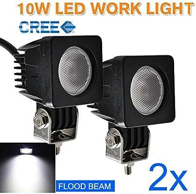 4X 10W Flood CREE LED Work Light Bar 4WD Reverse Lamp Truck 12V 24V