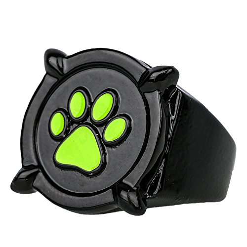 Xcoser Cat Noir Black Ring Deluxe Zinc Alloy Cosplay Accessory ()