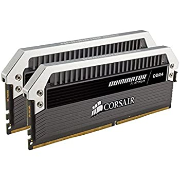 Corsair Dominator Platinum Series 16GB (2 x 8GB) DDR4 DRAM 3200MHz (PC4-25600) C16 Memory Kit