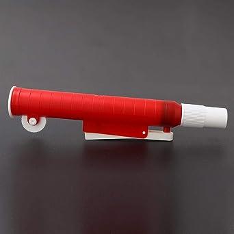 Bomba de pipetas, bomba de pipeta portátil ligera para llenado de pipetas de plástico y vidrio desechables, 25 ml, rojo: Amazon.es: Industria, empresas y ciencia