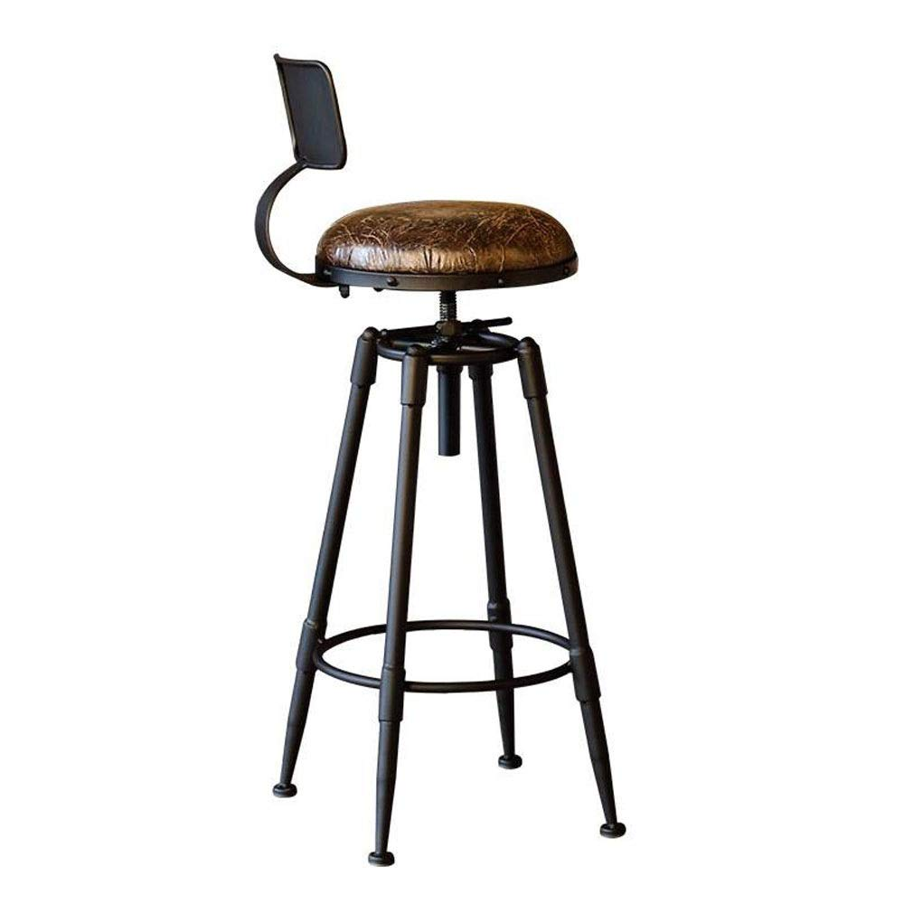 AO-stools Iron Bar Stool Front Desk High Bar Stool Bar Chair Cafe by AO (Image #2)