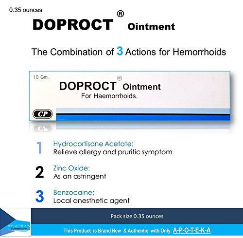 Hydrocortisone Hemorrhoids Relief Ointment (Doproct Ointment Packing 0.35 ounces) Effective with 3 Actions for Internal and external hemorrhoids and Itching proctitis (Advanced Oral Moisturizer Spray compare prices)