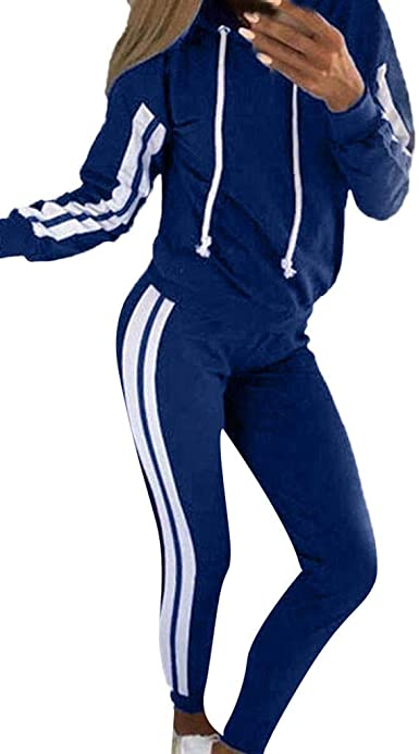 Donna Tuta Da Ginnastica 2 Pezzi Casual Sportiva Training Sets Vestiti Da Jogging Sportswear Manica Lunga Camicetta Pantaloni
