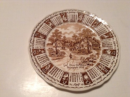 GOD Bless OUR House Throughout 1974 Collector Plate