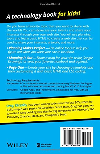 51Xe0OKtFJL - Creating a Web Site: Design and Build Your First Site! (Dummies Junior)