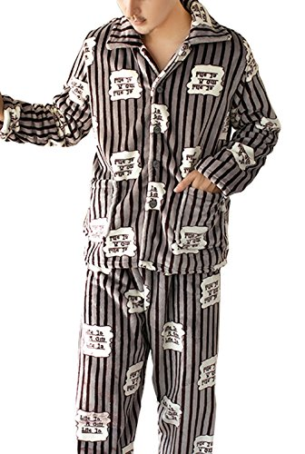 Respeedime Mens Pj Set Cozy Pajamas Pants Home Clothing Sleepwear Winter ()