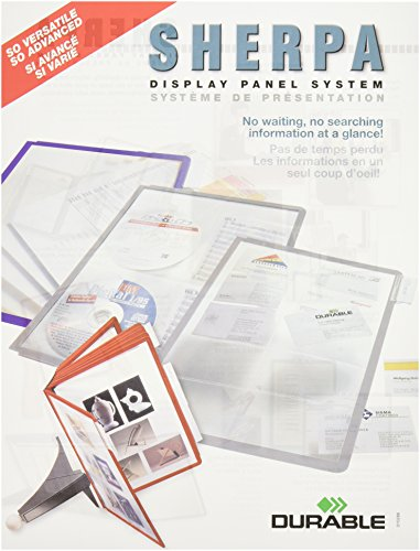 Reference System Durable - DURABLE SHERPA Replacement Panels, Assorted Color Borders, 5-Pack (566600)