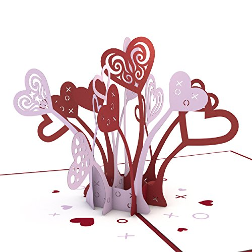 Lovepop Love Explosion Pop Up Card, 3D Card, Love Card, Valentine's Day Card, Romance Card, Heart - Out Card Pop Heart