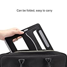 Aluminum Laptop Stand, OffKitsFoldable Lap Desk Cooling Pad Holder Notebook Riser V-Shape Support for ipad,ipoda,Macbook,Silicone Padded, Neck Wrists Strain Free, Cordless,8.9x10.2inches,N18 (Black)