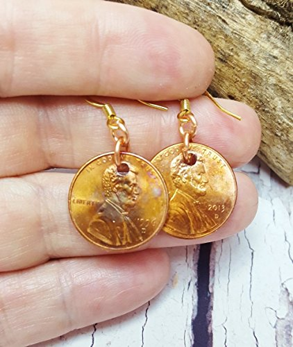 lucky-penny-earrings-christmas-gift-for-mom-birthday-gift-for-wife-boho-earring-set-dangle-earrings-