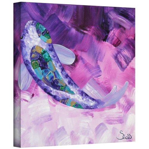 ArtWall Shiela Gosselin 'Purple Koi' Gallery-Wrapped Canvas Artwork, 14 by 14-Inch from ArtWall