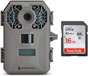Stealth Cam G30 Stealth IR STC-G30 Game Camera with 16GB SD Card Bundle (2 Items)
